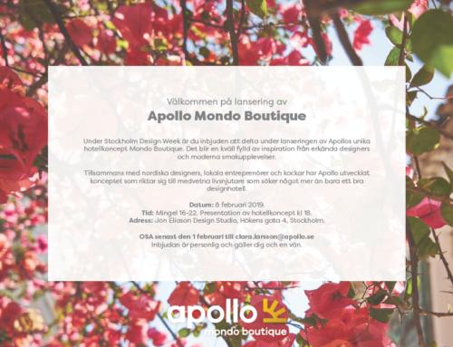 Välkommen på lansering av Apollo Mondo Boutique